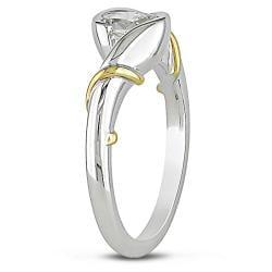 Miadora 18k White Gold 1/2ct TDW Diamond Solitaire Ring (I, SI2)