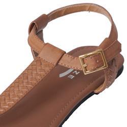 Glaze by Journee Co Women's 'Blake-18' Woven Accent T-strap Sandals
