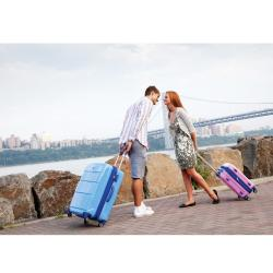 J World Sky Blue 'Vanesta' 3-piece Polycarbonate Spinner Luggage Set