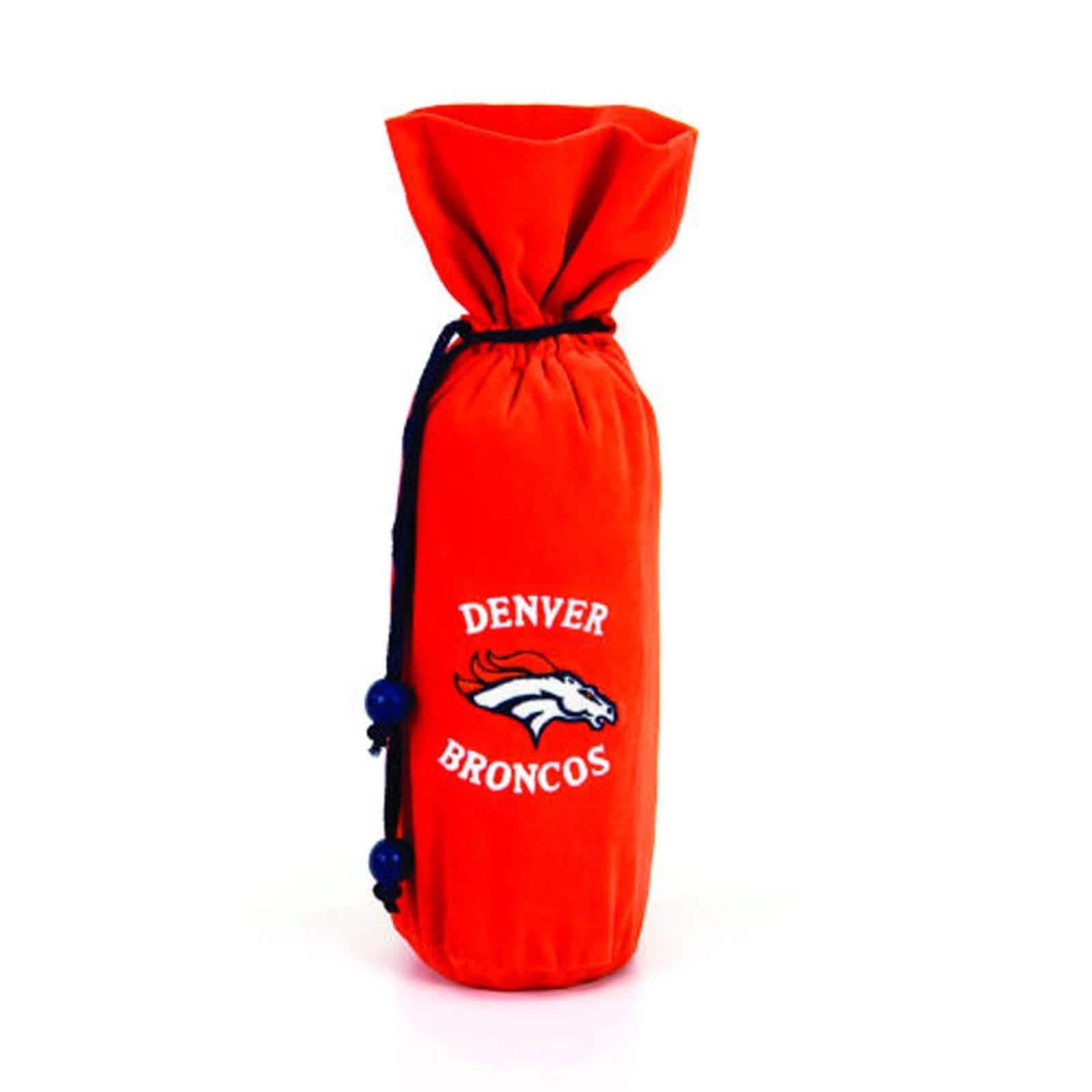 Denver Broncos 14-inch Velvet Wine Bottle Bag