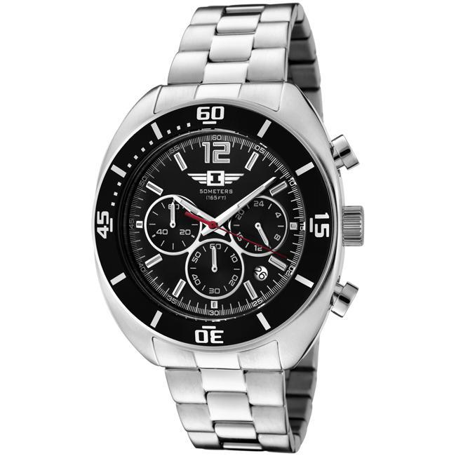I by Invicta Men's Black Dial Stainless Steel Chronograph Watch