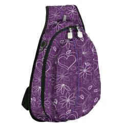J World 'Stacy' Purple Love Letter Mini Sling Bag