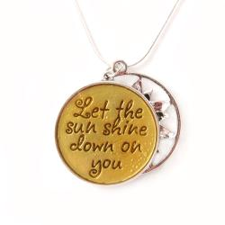 ABO Enterprises Silverplated 'Let the Sun Shine Down on You' Necklace - Thumbnail 1
