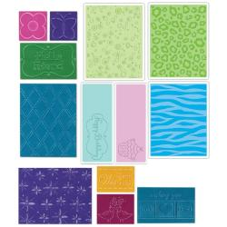 Sizzix Textured Impressions Value Kit One for Paper Embossing - Thumbnail 1