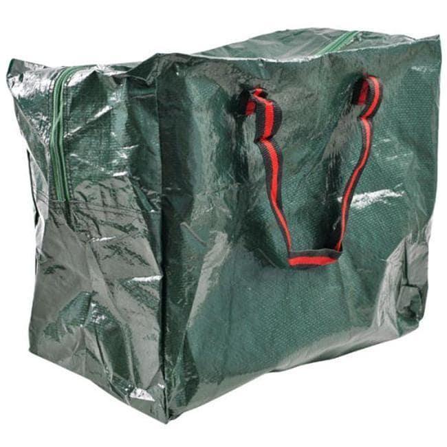 Green Woven Zipper Storage Tote Bag