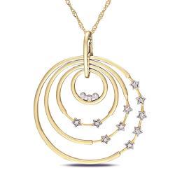 14k Yellow Gold 1/6ct TDW Diamond Fashion Necklace (G-H, SI1-SI2)