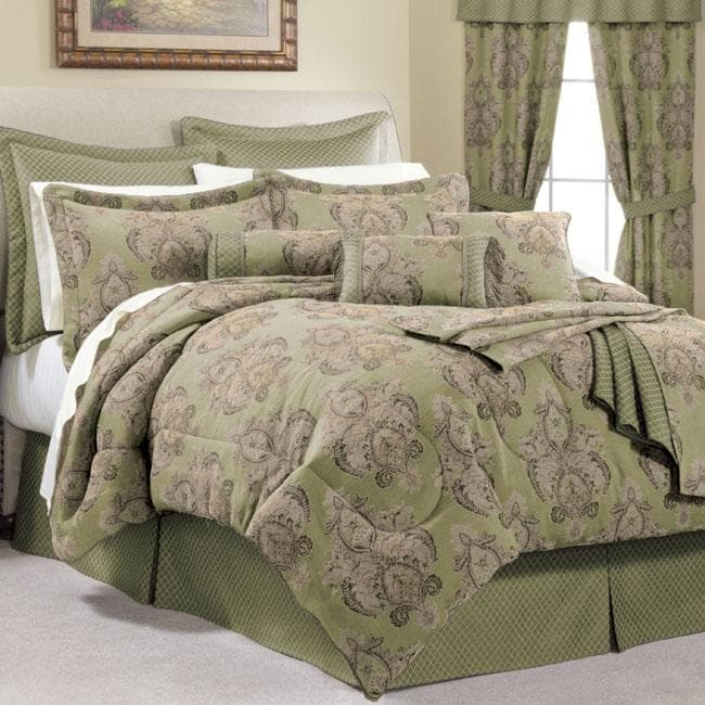 Bellissimo Verdi Queen Size 24 Piece Bed In A Bag With Sheet Set