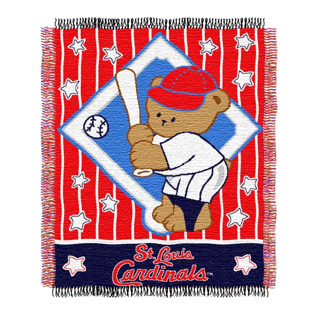 Northwest St. Louis Cardinals Woven Jacquard Acrylic Baby Blanket