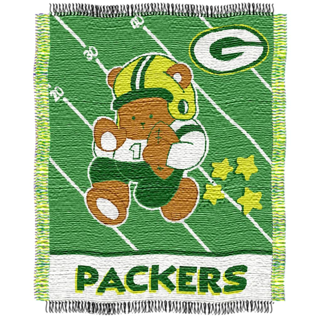 Northwest Green Bay Packers Woven Jacquard Acrylic Baby Blanket