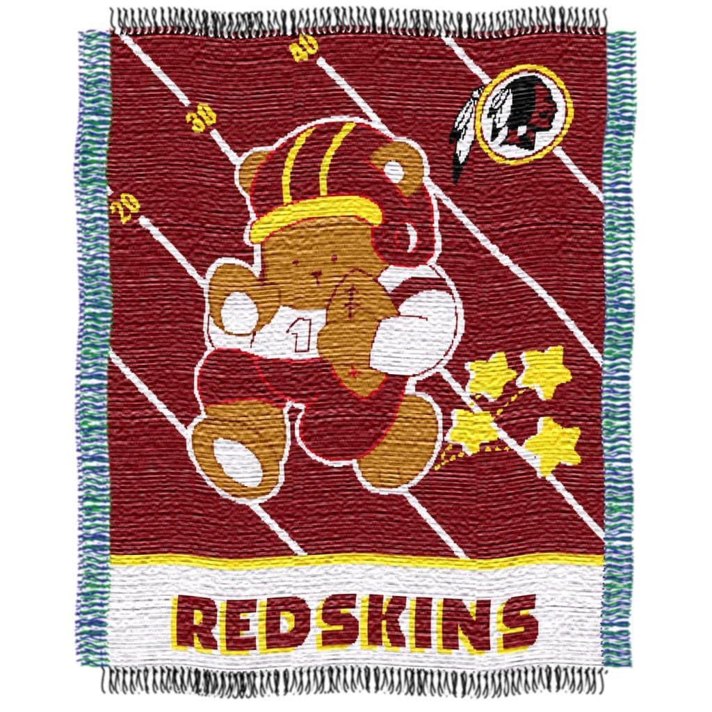 Northwest Washington Redskins Woven Jacquard Acrylic Baby Blanket