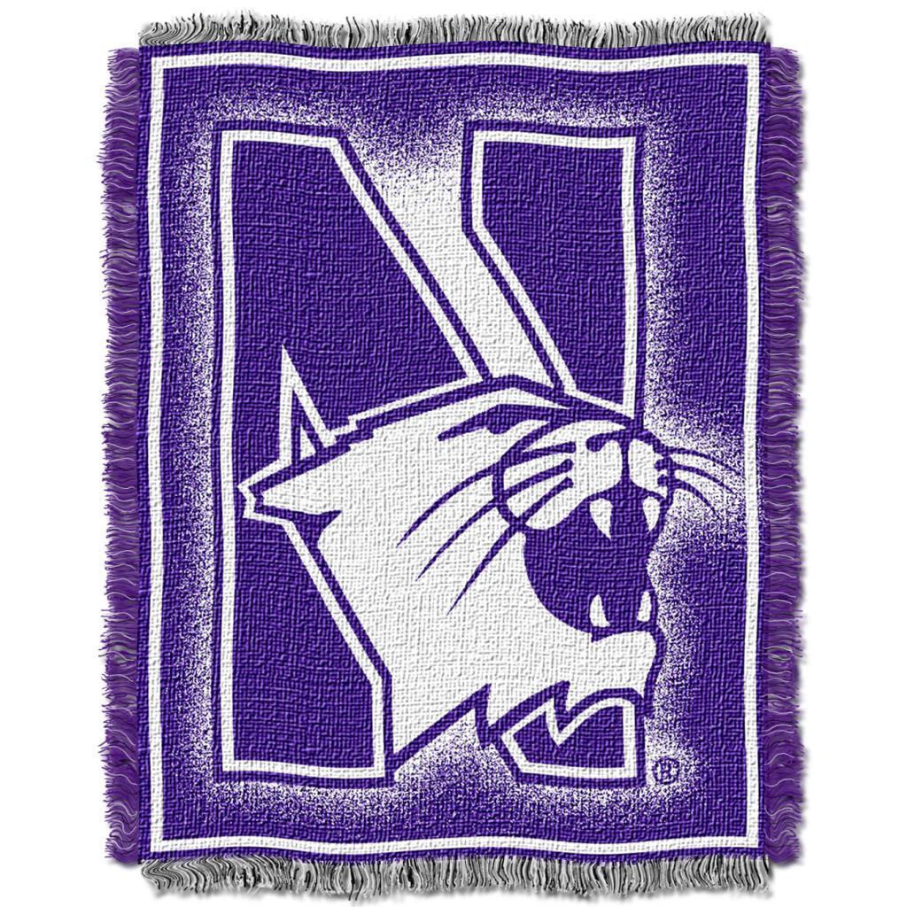 Northwest Northwestern Wildcats Focus Jacquard Throw