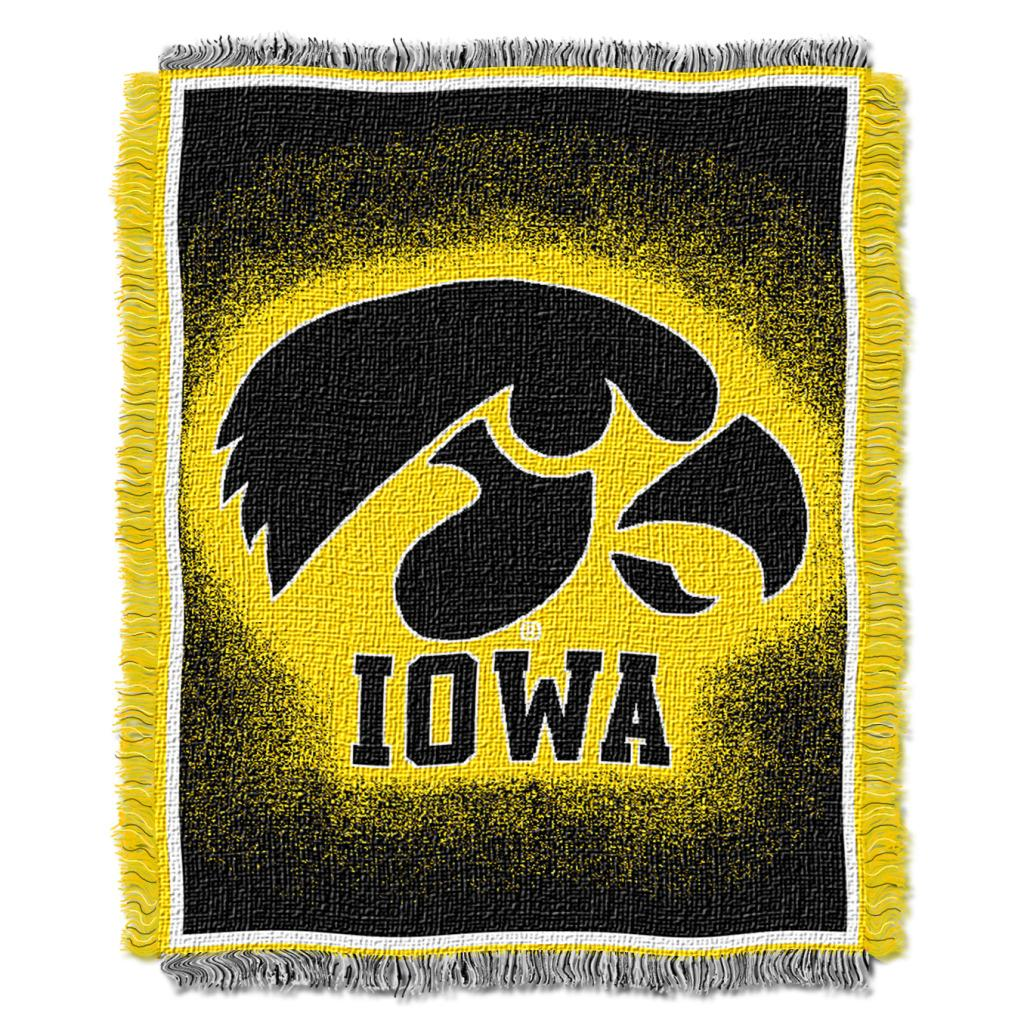 Northwest Iowa Hawkeyes Focus Jacquard Throw