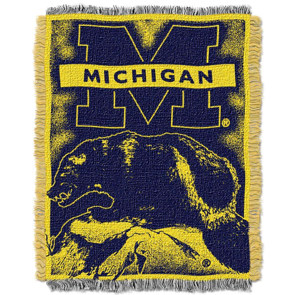 Northwest Michigan Wolverines Focus Jacquard Throw
