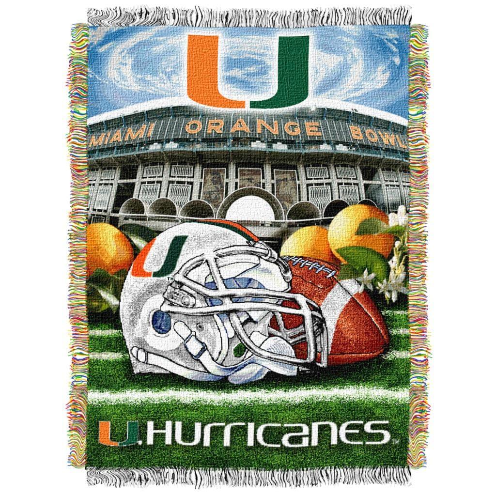 Northwest Miami Hurricanes Homefield Tapestry Throw