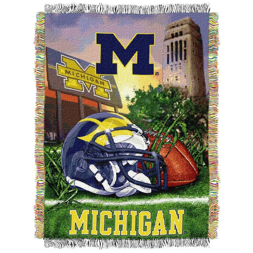 Northwest Michigan Wolverines Homefield Tapestry Throw
