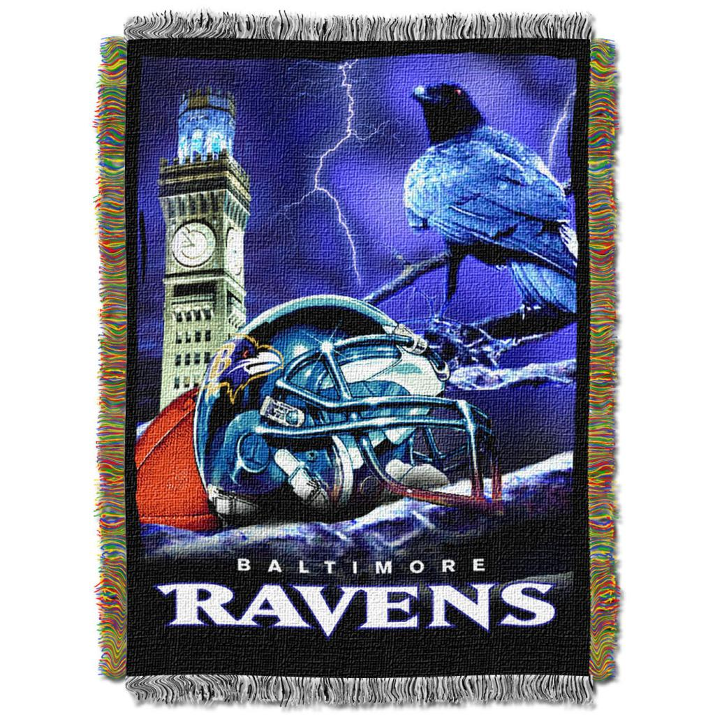 Northwest Baltimore Ravens Homefield Tapestry Throw
