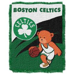 Northwest Boston Celtics Woven Jacquard Acrylic Baby Blanket - Thumbnail 1