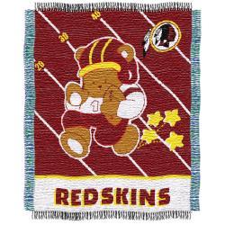 Northwest Washington Redskins Woven Jacquard Acrylic Baby Blanket - Thumbnail 1