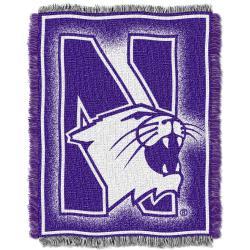 Northwest Northwestern Wildcats Focus Jacquard Throw - Thumbnail 1