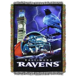 Northwest Baltimore Ravens Homefield Tapestry Throw - Thumbnail 1