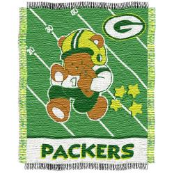 Northwest Green Bay Packers Woven Jacquard Acrylic Baby Blanket - Thumbnail 2