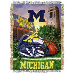 Northwest Michigan Wolverines Homefield Tapestry Throw - Thumbnail 2