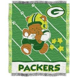 Northwest Green Bay Packers Woven Jacquard Acrylic Baby Blanket - Thumbnail 0