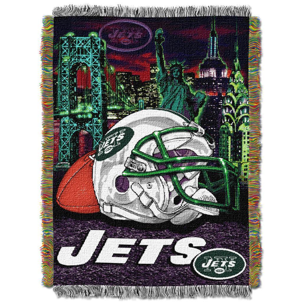 Northwest New York Jets Homefield Tapestry Throw