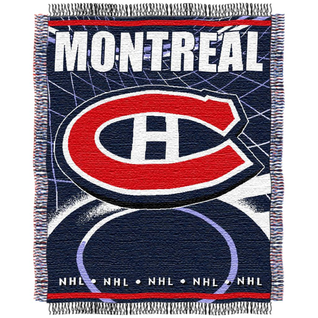 Northwest Montreal Canadiens Woven Jacquard Blanket