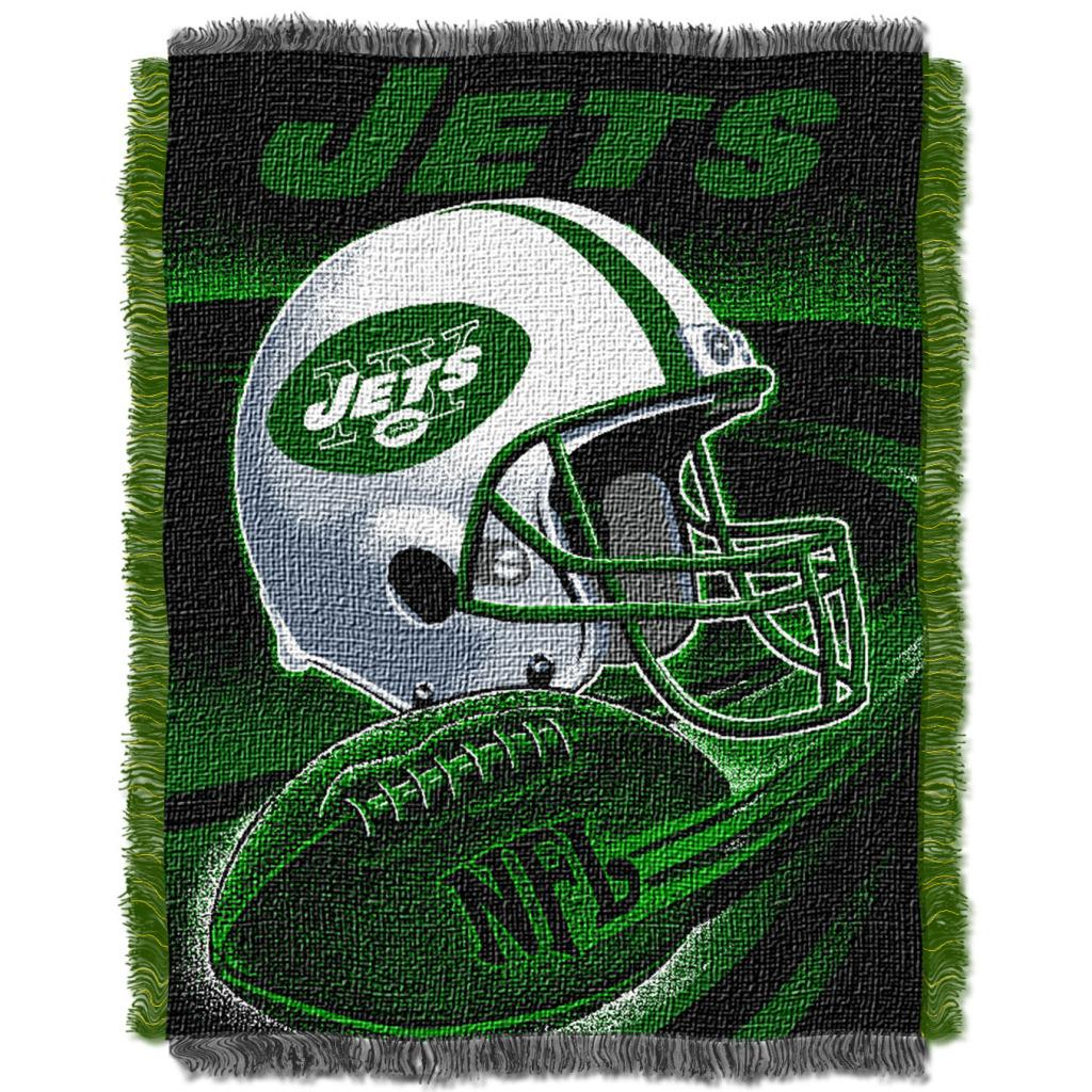 Northwest New York Jets Spiral Woven Jacquard Throw - Thumbnail 0