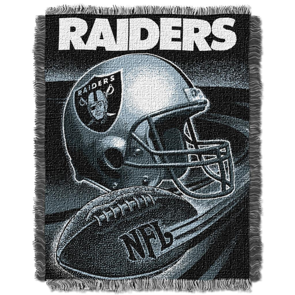 Northwest Oakland Raiders Spiral Woven Jacquard Throw