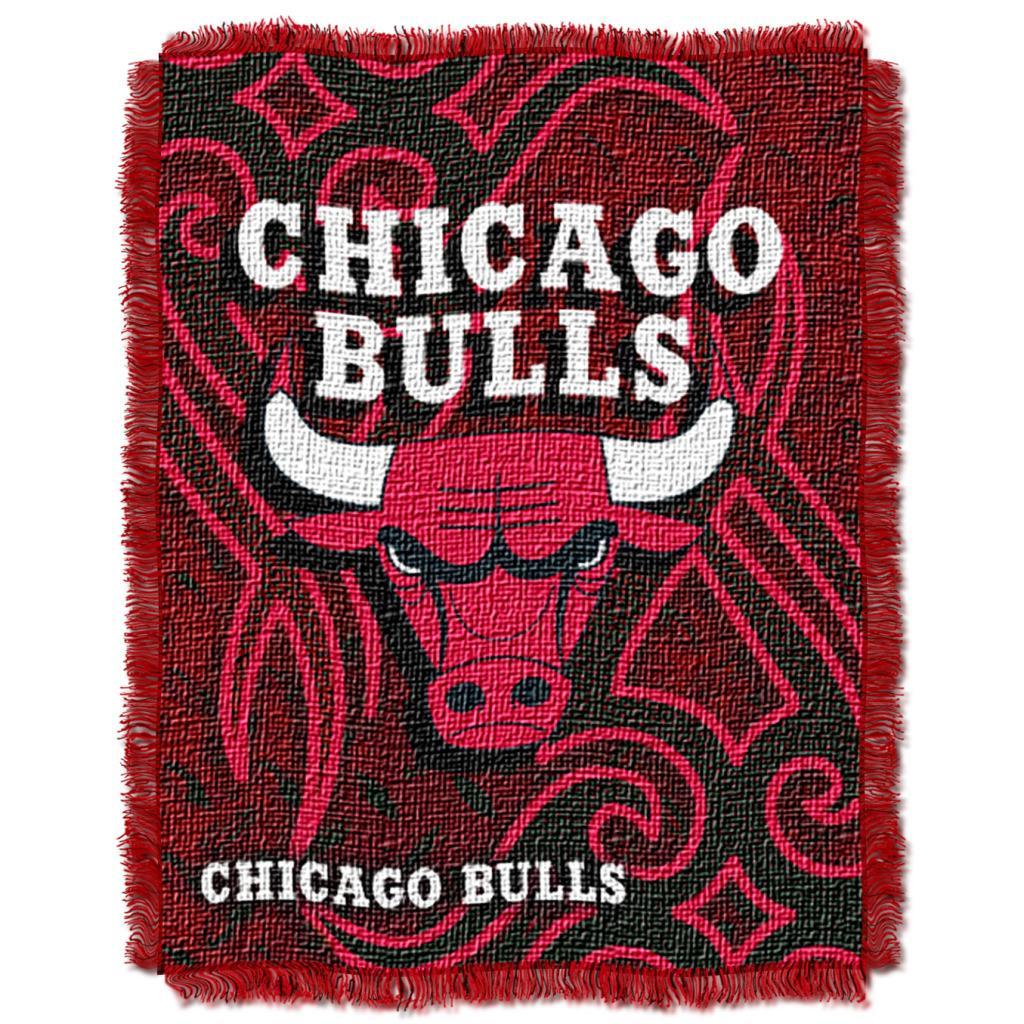 Northwest Chicago Bulls Tattoo Woven Jacquard Throw