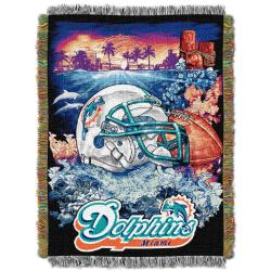 Northwest Miami Dolphins Homefield Tapestry Throw - Thumbnail 1