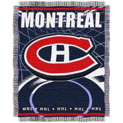 Northwest Montreal Canadiens Woven Jacquard Blanket - Thumbnail 1