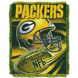 Northwest Green Bay Packers Spiral Woven Jacquard Throw - Thumbnail 1