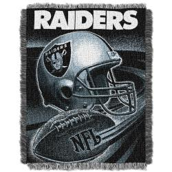 Northwest Oakland Raiders Spiral Woven Jacquard Throw - Thumbnail 1