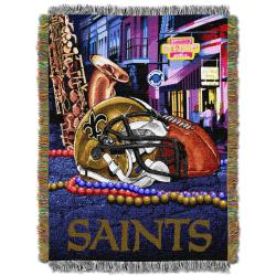 Northwest New Orleans Saints Homefield Tapestry Throw - Thumbnail 2