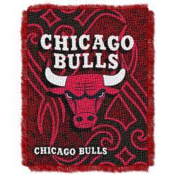 Northwest Chicago Bulls Tattoo Woven Jacquard Throw - Thumbnail 2