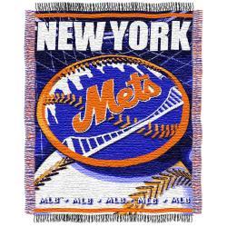Northwest New York Mets Woven Jacquard Blanket - Thumbnail 0