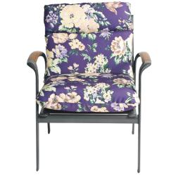 Shop Pia Floral Outdoor Purple Patio Club Chair Cushion Ships To