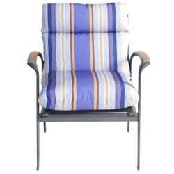 Bria Stripe Outdoor Brown/ Purple Club Chair Cushion