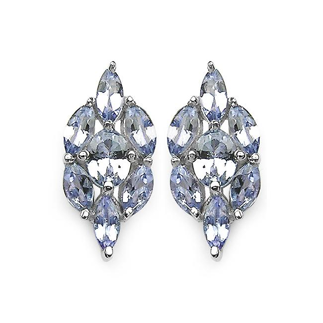 Malaika Sterling Silver Genuine Tanzanite Earrings