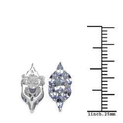 Malaika Sterling Silver Genuine Tanzanite Earrings - Thumbnail 2