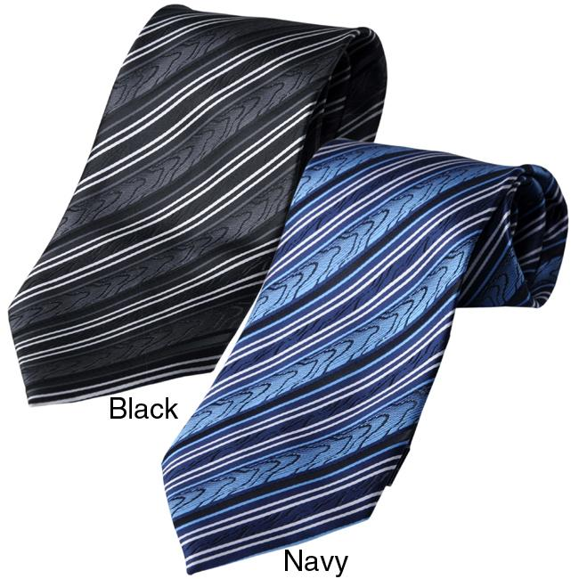 Boston Traveler Men's Striped Tie Hanky Set