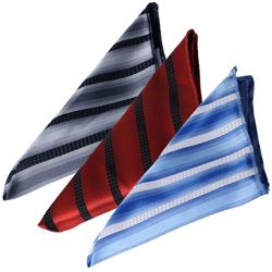 Boston Traveler Men's Striped Pattern Tie Hanky Set - Thumbnail 1