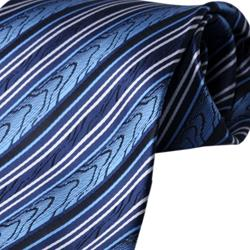 Boston Traveler Men's Striped Tie Hanky Set - Thumbnail 2