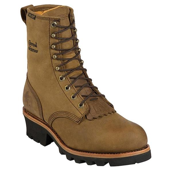 """Chippewa Men's '26340 M 8"""" WATERPROOF INS LOGGER' Leather Boots (Size 11.5)"""