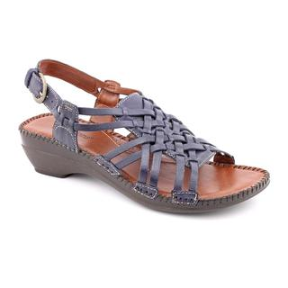 Auditions Women's 'Samba' Leather Sandals (Size 8) Narrow