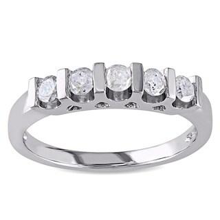 Miadora Sterling Silver 1/2ct TDW Diamond Anniversary Ring (J-K I3)