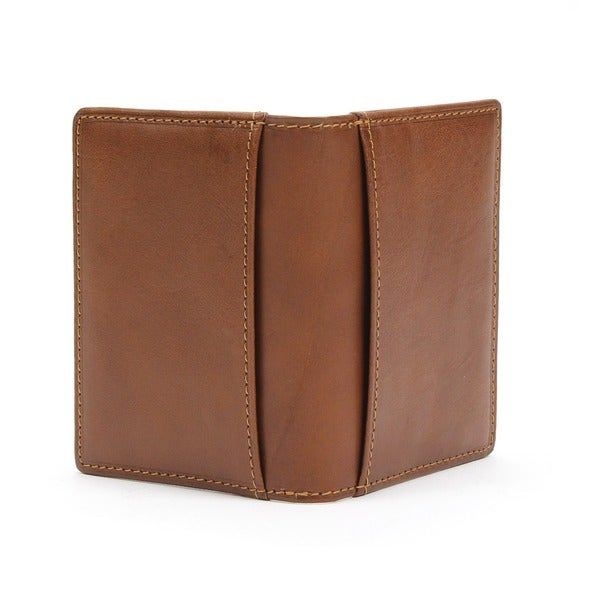 Tony Perotti Prima Italiano Mens Leather Weekend Cognac Handmade Italian Leather Wallet